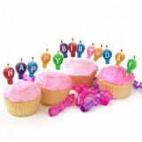"Set lumanari pt. tort ""Happy Birthday"" – 13 piese/pachet Best CarHome"