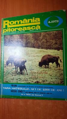 romania pitoreasca aprilie 1973-art. si foto tara hategului si orasul brasov foto