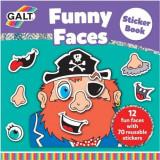 Carte cu abtibilduri Funny Faces Galt