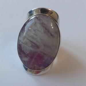 Inel din argint masiv cu piatra lunii(4008)