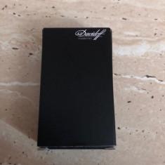 Bricheta de colectie metalica, marca Davidoff, culoare alba, cutie originala