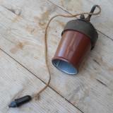 Cumpara ieftin LAMPA INDUSTRIALA SUSPENDATA - TABLA EMAILATA, DESIGN SIMPLU - VECHE INTERBELICA
