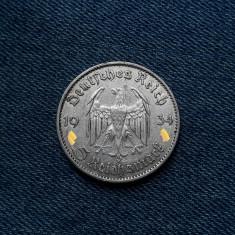 3o - Germania 5 Reichsmark 1934 G, marci germane argint WW2 mark