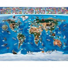 Tapet pentru copii Harta Lumii - Walltastic