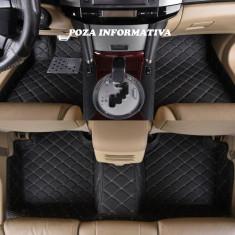 Covorase auto LUX PIELE 5D Mercedes E-Klasse W212 2009-2016 ( 5D-03 cusatura bej ) ManiaCars
