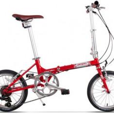 Bicicleta Pegas Teoretic 7S, Pliabila, 7 Viteze (Rosu)