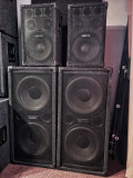 Sistem audio 4 boxe incinte 4 way 2x 1200W RMS Crate Replica in perfecta stare