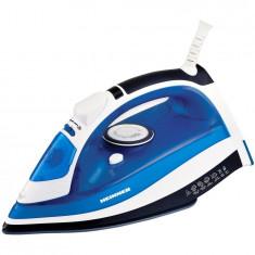 Fier de calcat Azuritte HSI-2400AZ, 2400 W, Talpa ceramica, Auto-oprire, Albastru