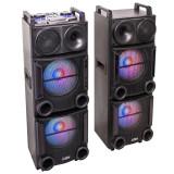 Cumpara ieftin Set 2 boxe Party profesionale, 1200 W, Bluetooth, USB/SD,AUX, telecomanda