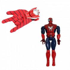 Set manusa Spiderman cu lansator si figurina