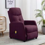 VidaXL Fotoliu de masaj rabatabil, violet, material textil