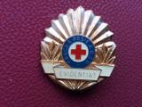 Insigna-Crucea Rosie-Evidentiat-format mare