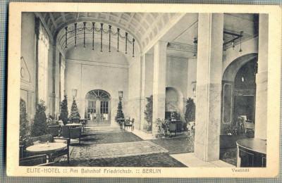 AD 398 C. P. VECHE - ELITE-HOTEL - BERLIN -CIRC.1910-CATRE SERBAN OTETELESANU foto