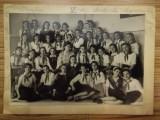 1951, Fotografie scolara grup, primele cravate de pionier, comunism, semnaturi