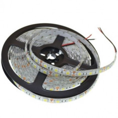 Banda LED Whitenergy flexibila 5m, 5050, 28,8W/m, 12V DC, RGB