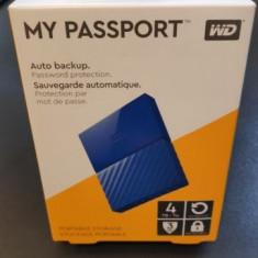 """HDD extern WD 4TB, 2.5"""", USB 3.0, Albastru, Western Digital"""