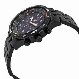 Ceas barbatesc Swiss Military Airforce 1 Cronograf, Negru, 2472