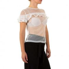 Bluza sic, transparenta, de culoare alba, L, M, S, Alb