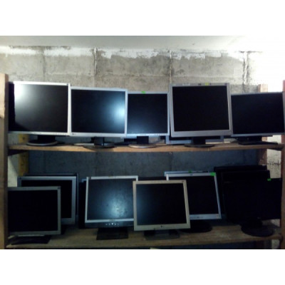 Lot 20 monitoare LCD calculator defecte LG, Samsung, HP, Dell diagonale 22-19-17-15 foto