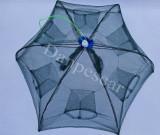 HALAU Crâsnic Varsa tip umbrela pentru raci si baboi cu 6 intrari 90 x 90 cm