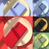 Husa Antisoc ultra-slim cu microfibra pt. Huawei P40 Lite 5G, P Smart 2021, Alt model telefon Huawei, Albastru, Gri, Mov, Negru, Rosu, Roz, Verde, Silicon