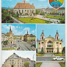 bnk cp Cluj - Vedere - necirculata - marca fixa