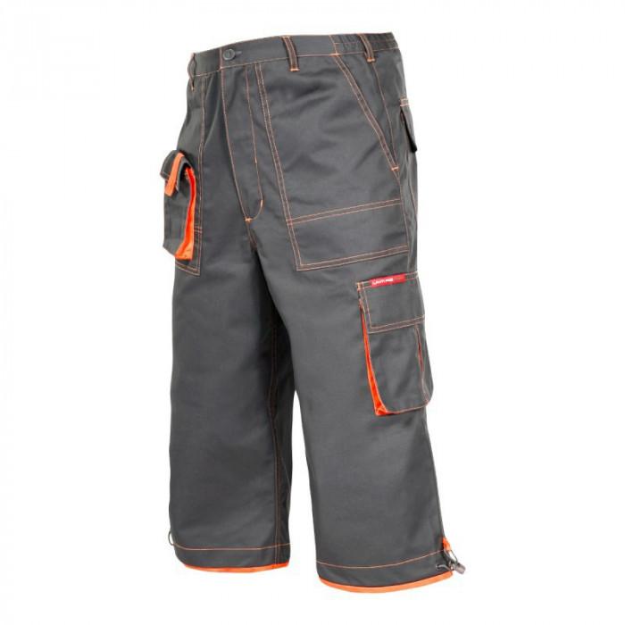 Pantaloni lucru mediu-grosi, cusaturi duble, 7 buzunare, talie ajustabila, marime M