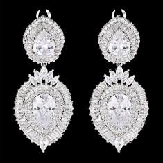 Cercei placati cu Aur 18K si Diamante, Corona