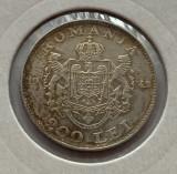 200 Lei 1942 Argint, Romania XF, patina