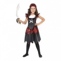 Costumatie Pirat Gothic fetite 7-9 ani, 130-145 cm