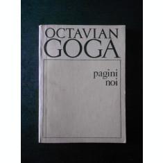 OCTAVIAN GOGA - PAGINI NOI