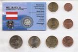 Austria Set 8 - 1, 2, 5, 10, 20, 50 euro cent, 1, 2 euro 2008 - UNC !!!