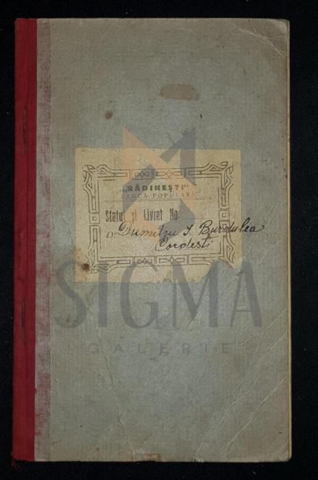 "STATUTELE BANCEI POPULARE COOPERATIVE ""RADINESTI"" - DIN COMUNA RADINESTI, JUDETUL GORJIU (Gorj), 1925, Targu-Jiu"