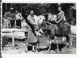 C1350 Copil elev pe magar samar pe cal Romania perioada regalista