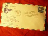 Plic FDC 1958 SUA 40 Ani Serviciul Posta Aeriana -7C albastru