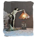 Lampa Art Nouveau cu o femeie IS001, Veioze
