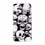 Cumpara ieftin Carcasa Husa Apple iPhone XS Max Model Skulls, Fosforescent, Antisoc + Folie sticla securizata Apple iPhone XS Max Tempered Glass Viceversa