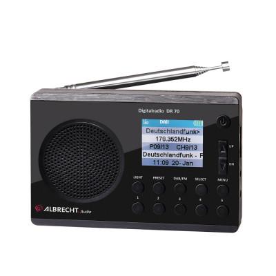 Resigilat : Radio digital DAB si FM Albrecht DR 70 cu display color 220V/baterii C foto