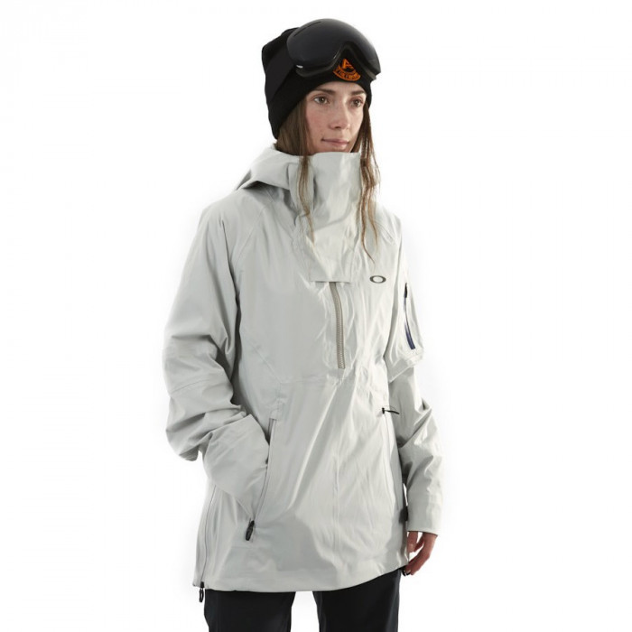 Geaca Oakley W's Snow Shell 15k/3L Anorak Light Grey