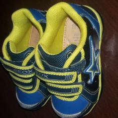 Adidasi copii piele Geox mas.21, Albastru