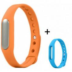 Bratara fitness iUni Mi1 Portocaliu + Curea de schimb Albastru