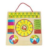 Cumpara ieftin Jucarie educativa calendar din lemn pentru copii Invata Ceasul, Lunile, Zilele saptamanii, Anotimpurile, Vremea -