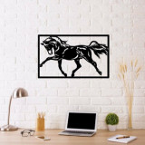 Decoratiune pentru perete, Ocean, metal 100 procente, 70 x 50 cm, 874OCN1016, Negru