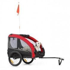 KLARFIT Husky Race, remorcă după biciclete pentru câini, 282L, 40KG, 600D, pânză Oxford, roșu