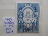 1953-Saarland -MNH-Perfect, Nestampilat