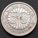 Germania 50 Reichspfennig 1937 A Berlin UNC KM #49, Europa, Nichel