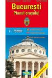Bucuresti - Harta plianta - planul orasului  
