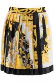 Cumpara ieftin Fusta Versace, Versace acanthus barocco pleated mini skirt A79448 A235726 A7027 Multicolor, 42