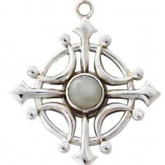 Talisman argint cu piatra lunii Spada Selenei