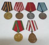 Republica Populara Romana Superb Lot 6 Medalii - Decoratii anii 1945 -1964
